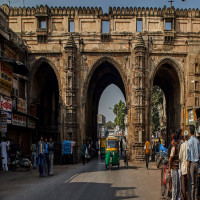 Bhadra_Fort_&_Teen_Darwaza_Attractions