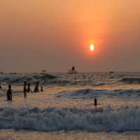 Colva beach goa Evening Fun