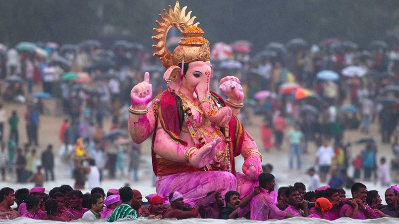 Lord Ganesha Idol in Ganesh Chaturthi Celebration